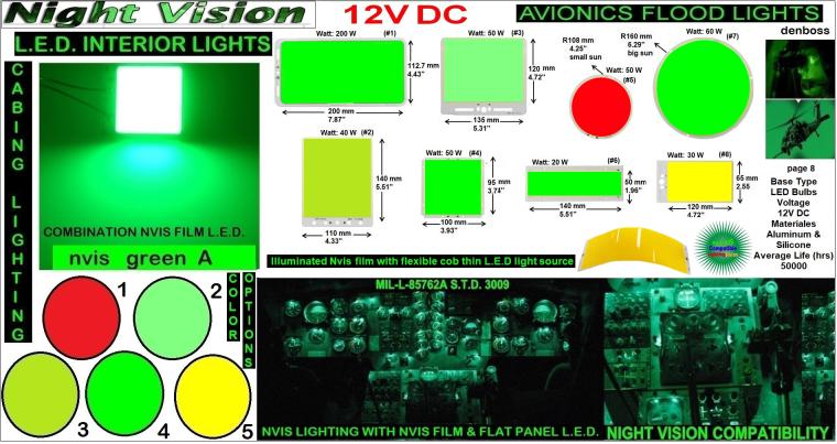 7 LED NVIS FILM FLAT LIGHTS COB LED 3-26-19