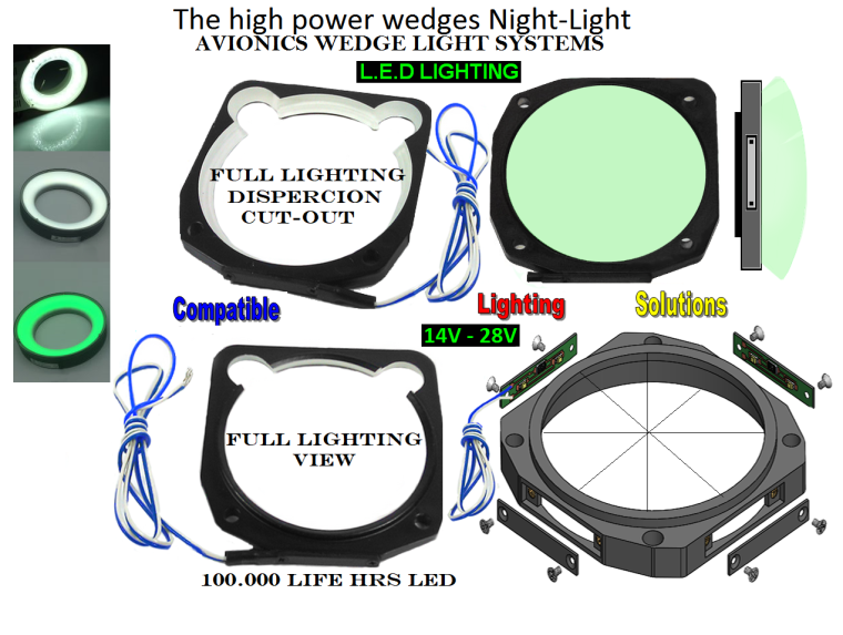 wedge lighting upgrades nvis and full viewing instrument systems 14v-28v LED 6-13-19