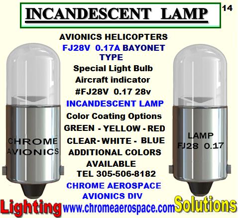 FJ28 0.17 BAYONET TYPE INCANDESCENT LAMP