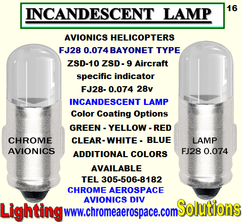FJ28 0.074 BAYONET TYPE INCANDESCENT LAMP