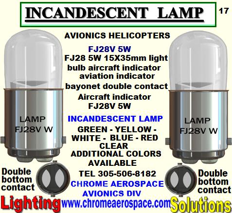 FJ28 5W  BAYONET TYPE INCANDESCENT LAMP