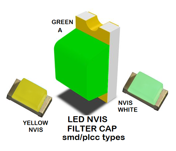 1206 SMD NVIS LED GREEN A FILTER 1206 SMD LED NVIS GREEN A PCB 1206 SMD-PLCC LED NVIS GREEN A FILTER 1206 SMD-PLCC LED NVIS GREEN A PCB