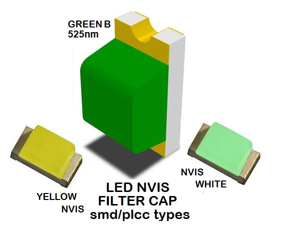 1206 SMD LED NVIS GREEN B 525 NM FILTER 1206 SMD LED NVIS GREEN B PCB 1206 SMD-PLCC LED NVIS GREEN B 525 NM FILTER  1206 SMD-PLCC LED NVIS GREEN B NM PCB