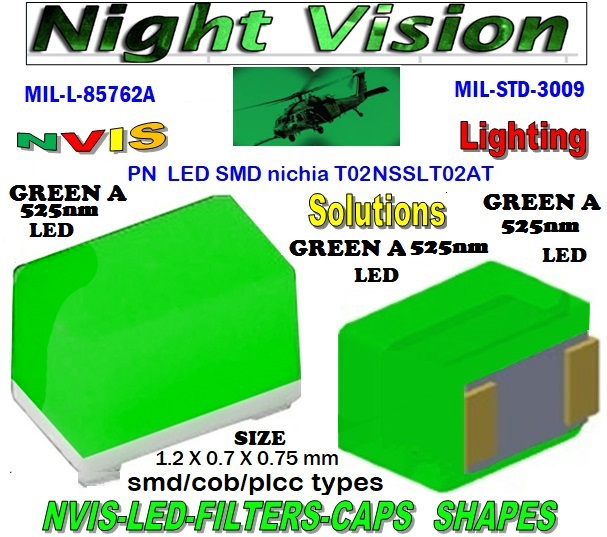 NICHIA NSSLT02AT  LED NVIS GREEN A 525nm FILTER CAP 1206 SMD LED NVIS GREEN A 525 NM FILTER 1206 SMD LED NVIS GREEN A 525NM PCB 1206 SMD-PLCC LED NVIS GREEN A 525 NM FILTER 1206 SMD-PLCC LED NVIS GREEN A 525 NM PCB NVIS GREEN A 525 nm SMD-PLCC LED FILTER CAP DATA SHEET NICHIA NSSLT02AT NICHIA NSSLT02AT , LED NVIS GREEN A 525 nm  FILTER CAP L-65403-R0603-003  L-65196-A0805-003 L-65330-A0805-003 L-65197-B0805-003 L-65250-B0805-003   L-65196-A0603-003  L-65330-A0603-003 L-65197-B0603-003L-65250-B0603-003 L-65648-W0603-003 L-65951-W0603-003 L-65401-Y0603-003  L-65402-Y0603-003 L-65403-R0603-003 L-65196-A0805-003 L-65330-A0805-003 L-65197-B0805-003 L-65250-B0805-003 L-65648-W0805-003 L-65951-W0805-003 L-65401-Y0805-003 L-65402-Y0805-003 L-65403-R0805-003 L-65196-A1206-002 L-65330-A1206-002  L-65197-B1206-002 L-65250-B1206-002 L-65648-W1206-002  L-65951-W1206-002 L-65401-Y1206-002 L-65402-Y1206-002 L-65403-R1206-002 NICHIA NSSLT02AT  LED NVIS GREEN A 525nm FILTER CAP 1206 SMD LED NVIS GREEN A 525 NM FILTER  1206 SMD LED NVIS GREEN A 525 NM PCB  1206 SMD-PLCC LED NVIS GREEN A 525 NM FILTER  1206 SMD-PLCC LED NVIS GREEN A 525 NM PCB  SMD-PLCC LED NVIS GREEN A 525nm FILTER CAP L-65196-A1206-003 L-65330-A1206-003 L-65197-B1206-003 L-65250-B1206-003  L-65648-W1206-003 L-65951-W1206-003 L-65401-Y1206-003 L-65402-Y1206-003 1206-002 SMD LED NVIS GREEN A 525 NM FILTER  1206-002 SMD LED NVIS GREEN A 525NM PCB  1206-002 SMD-PLCC LED NVIS GREEN A 525 NM FILTER 1206-002 SMD-PLCC LED NVIS GREEN A 525 NM PCB  1206-003 SMD LED NVIS GREEN A 525 NM FILTER 1206-003 SMD LED NVIS GREEN A 525NM PCB  1206-003 SMD-PLCC LED NVIS GREEN A 525 NM FILTER   1206-003 SMD-PLCC LED NVIS GREEN A 525 NM PCB     L-65403-R1206-003   L-65196-A320-001 L-65330-A320-001 L-65197-B320-001 L-65250-B320-001 L-65648-W320-001  L-65951-W320-001 L-65401-Y320-001 NVIS 0805 SMD LED NVIS GREEN A 525 NM FILTERNVIS 0805 SMD LED NVIS GREEN A 525 NM PCB0805 SMD-PLCC LED NVIS GREEN A 525 NM FILTER 0805 SMD-PLCC LED NVIS GREEN A 525 NM PCB  L-65402-Y320-001 L-65403-R320-001 L-65196-A670-001 L-65330-A670-001 L-65197-B670-001 L-65250-B670-001 L-65648-W670-001 0805-003 SMD LED NVIS GREEN A 525 NM FILTER  0805-003 SMD LED NVIS GREEN A 525 NM PCB  0805-003 SMD-PLCC LED NVIS GREEN A 525 NM FILTER  0805-003 SMD-PLCC LED NVIS GREEN A 525 NM PCB   1 NVIS 0603 SMD LED NVIS GREEN A 525 NM FILTER    NVIS 0603 SMD LED NVIS GREEN A 525 NM PCB   NVIS 0603 SMD LED NVIS GREEN A 525 NM FILTERNVIS 0603 SMD LED NVIS GREEN A 525 NM PCB 0603 SMD-PLCC LED NVIS GREEN A 525 NM FILTER0603 SMD-PLCC LED NVIS GREEN A 525 NM PCB   L-65951-W670-001   L-65401-Y670-001 L-65401-Y670-001 L-65403-R670-001 L-65196-A460-001 L-65196-A460-001 L-65197-B460-001 L-65250-B460-001 L-65648-W460-001 L-65951-W460-001 L-65401-Y460-001 L-65402-Y460-001 L-65403-R460-001 0603-003 SMD LED NVIS GREEN A 525 NM FILTER   0603-003 SMD LED NVIS GREEN A 525 NM PCB 0603-003 SMD-PLCC LED NVIS GREEN A 525 NM FILTER    0603-003 SMD-PLCC LED NVIS GREEN A 525 NM PCB L-65951-W955-001 L-65401-Y955- 001  L-65401-Y0805-003 L-65402-Y0805-003  L-65403-R0805-003  L-65197-B1206-002 L-65250-B1206-002 L-65648-W1206-002 L-65951-W1206-002 L-65401-Y1206-002 L-65402-Y1206-002 L-65403-R1206-002 L-65197-B1206-003 L-65250-B1206-003 L-65648-W1206-003 L-65951-W1206-003 L-65401-Y1206-003 L-65402-Y1206-003 L-65403-R1206-003 L-65196-A320-001 L-65330-A320-001 L-65197-B320-001 L-65250-B320-001 L-65648-W320-001 L-65951-W320-001 L-65401-Y320-001 L-65402-Y320-001 L-65403-R320-001 L-65196-A670-001 L-65330-A670-001 L-65197-B670-001 L-65250-B670-001 L-65648-W670-001 L-65951-W670-001 L-65401-Y670-001 L-65401-Y670-001 L-65403-R670-001 L-65196-A460-001 L-65196-A460-001  1206 SMD LED NVIS GREEN A 525 NM FILTER  1206 SMD LED NVIS GREEN A 525 NM PCB  1206 SMD-PLCC LED NVIS GREEN A 525 NM FILTER  1206 SMD-PLCC LED NVIS GREEN A 525 NM PCB   L-65196-A1206-002 L-65330-A1206-002 L-65196-A1206-003 L-65330-A1206-003 L-65197-B460-001  L-65250-B460-001 L-65648-W460-001 L-65951-W460-001 L-65401-Y460-001 L-65402-Y460-001 L-65403-R460-001 L-65196-A955-001 L-65330-A955-001 L-65197-B955-001 L-65250-B955-001 L-65648-W955-001 L-65951-W955-001 L-65401-Y955- 001 1206-006 SMD LED NVIS GREEN A 525 NM FILTER 1206-006 SMD LED NVIS GREEN A 525NM PCB 1206-006 SMD-PLCC LED NVIS GREEN A 525 NM FILTER 1206-006 SMD-PLCC LED NVIS GREEN A 525 NM PCB  NVIS 0805 SMD LED NVIS GREEN A 525 NM FILTER NVIS 0805 SMD LED NVIS GREEN A 525 NM PCB  0805 SMD-PLCC LED NVIS GREEN A 525 NM FILTER  0805 SMD-PLCC LED NVIS GREEN A 525 NM PCB  330 SMD PLCC LED 330 LED NVIS COCKPIT LIGHTING 330 LED HELICOPTERS NIGHT VISION LIGHTING NVIS FILTER  0805-003 SMD LED NVIS GREEN A 525 NM FILTER       0805-003 SMD LED NVIS GREEN A 525 NM PCB      0805-003 SMD-PLCC LED NVIS GREEN A 525 NM FILTER       0805-003 SMD-PLCC LED NVIS GREEN A 525 NM PCB      NVIS 0603 SMD LED NVIS GREEN A 525 NM FILTER       NVIS 0603 SMD LED NVIS GREEN A 525 NM PCB       0603 SMD-PLCC LED NVIS GREEN A 525 NM FILTER       0603 SMD-PLCC LED NVIS GREEN A 525 NM PCB        0603-003 SMD LED NVIS GREEN A 525 NM FILTER      0603-003 SMD LED NVIS GREEN A 525 NM PCB      0603-003 SMD-PLCC LED NVIS GREEN A 525 NM FILTER       0603-003 SMD-PLCC LED NVIS GREEN A 525 NM PCB  L-65196-A0603-003   0805-003 SMD LED NVIS GREEN A 525 NM FILTER       0805-003 SMD LED NVIS GREEN A 525 NM PCB      0805-003 SMD-PLCC LED NVIS GREEN A 525 NM FILTER       0805-003 SMD-PLCC LED NVIS GREEN A 525 NM PCB     NVIS 0603 SMD LED NVIS GREEN A 525 NM FILTER       NVIS 0603 SMD LED NVIS GREEN A 525 NM PCB       0603 SMD-PLCC LED NVIS GREEN A 525 NM FILTER       0603 SMD-PLCC LED NVIS GREEN A 525 NM PCB       0603-003 SMD LED NVIS GREEN A 525 NM FILTER      0603-003 SMD LED NVIS GREEN A 525 NM PCB      0603-003 SMD-PLCC LED NVIS GREEN A 525 NM FILTER       0603-003 SMD-PLCC LED NVIS GREEN A 525 NM PCB     670 SMD LED NVIS GREEN A 525 nm FILTER  670 SMD LED NVIS GREEN A 525 nm PCB  670 SMD-PLCC LED NVIS GREEN A 525 nm FILTER  670 SMD-PLCC LED NVIS GREEN A 525 nm PCB  670-001 SMD LED NVIS GREEN A 525 nm FILTER CAP 670-001 SMD LED NVIS GREEN A 525 nm PCB  670-001 SMD-PLCC LED NVIS GREEN A 525 nm FILTER CAP 670-001 SMD-PLCC LED NVIS GREEN A 525 nm PCB L-65196-A0603-003 NFSW157AT-H3 NICHIA SMD-PLCC NVIS GREEN A 525nm FILTER CAP   NSCW100 NICHIA SMD-PLCC LED NVIS GREEN A 525 NM FILTER CAP  L-65197-B0603-003 L-65250-B0603-003  L-65648-W0603-003 L-65951-W0603-003 L-65401-Y0603-003 L-65402-Y0603-003  L-65403-R0603-003 L-65196-A0805-003 L-65951-W0805-003 L-65648-W0805-003 L-65401-Y0805-003 L-65402-Y0805-003 L-65403-R0805-003 L-65196-A1206-002 L-65330-A1206-002  NSSW100DT NICHIA SMD-PLCC LED NVIS GREEN A 525 nm FILTER CAP     5050 SMD-PLCC LED NVIS GREEN A 525 nm FILTER CAP     330 LED LIGHTS GREEN A 525 nm FILTER CAP  L-65197-B1206-002 L-65250-B1206-002 L-65648-W1206-002 L-65951-W1206-002 L-65401-Y1206-002L-65402-Y1206-002 L-65403-R1206-002 L-65196-A1206-003 L-65330-A1206-003 L-65197-B1206-003L-65250-B1206-003 L-65648-W1206-003 L-65951-W1206-003 L-65401-Y1206-003 L-65402-Y1206-003 L-65403-R1206-003L-65196-A320-001 L-65330-A320-001 L-65197-B320-001 L-65250-B320-001 L-65648-W320-001 L-65951-W320-001 L-65401-Y320-001  L-65402-Y320-001 L-65403-R320-001 L-65196-A670-001 L-65330-A670-001 L-65197-B670-001 L-65250-B670-001 L-65648-W670-001L-65951-W670-001 L-65401-Y670-001 L-65401-Y670-001 L-65403-R670-001 L-65196-A460-001 L-65196-A460-001 L-65197-B460-001   330-001 SMD LED NVIS GREEN A 525 nm FILTER CAP       330-001 SMD LED NVIS GREEN A 525 nm PCB  1 330-001 SMD-PLCC LED NVIS GREEN A 525 nm FILTER CAP       330-001 SMD-PLCC LED NVIS GREEN A 525 nm PCB   NESSW064AT NICHIA SMD-PLCC LED NVIS GREEN A 525 nm FILTER CAP       NSSW204BT NICHIA SMD-PLCC LED NVIS GREEN A 525 nm FILTER CAP L-65250-B460-001 L-65648-W460-001 L-65951-W460-001 L-65401-Y460-001 L-65402-Y460-001 L-65403-R460-001 L-65196-A955-001 L-65330-A955-001 L-65197-B955-001 L-65250-B955-001 L-65648-W955-001 L-65951-W955-001 L-65401-Y955- 001  955 SMD PLCC LED 955 LED 955 LED NVIS  955 LED HELICOPTERS NIGHT VISION LIGHTING   955 NVIS FILTER  955 Night Vision Imaging Systems (NVIS)  955 PILOT NIGHT VISION NVIS ILLUMINATION  955 NVIS Aircraft Upgrades | Night Vision Goggles 955 PILOT NIGHT VISION NVIS ILLUMINATION  955 LED SWITCHES, KEYBOARDS, DIALS, AND DISPLAYS 955 COCKPIT MODIFICATION 955 NVIS compatible lights  955 NVIS filters . NVG lighting 955 NVG lighting control panel customized 955 SMD LED 955 NVIS compatible lights  955 NVIS compatible lights CHIP  955 SMD LED NVIS   955 SMD LED NIGHT VISION  955 SMD PLCC LED AVIONICS 955 AVIONICS NIGHT VISION LIGHTING 955 AVIONICS MODIFICATIONS TO NIGHT VISION    955 LED AVIONICS UPGRADES TO NVIS 955 LED NVIS GREEN A 955 IMPACT SOLAR FILTER NVIS 955 LED NVIS GREEN B  955 LED NVIS WHITE  955 LED NVIS RED  955 LED AIRBUS A 400 GREEN 955-001 SMD PLCC LED 955-001 LED   955-001 LED NVIS  955-001 LED HELICOPTERS NIGHT VISION LIGHTING  955-001 NVIS FILTER 955-001 Night Vision Imaging Systems (NVIS) 955-001 PILOT NIGHT VISION NVIS ILLUMINATION  955-001 NVIS Aircraft Upgrades | Night Vision Goggles  955-001 LED SWITCHES, KEYBOARDS, DIALS, AND DISPLAYS 955-001 COCKPIT MODIFICATION  955-001 NVIS compatible lights    955-001 NVIS filters . NVG lighting  955-001 NVG lighting control panel customized   955-001 SMD LED  955-001 NVIS compatible lights  955-001 NVIS compatible lights CHIP 955-001 SMD LED NVIS 955-001 SMD LED NIGHT VISION 955-001 SMD PLCC LED AVIONICS 955-001 AVIONICS NIGHT VISION LIGHTING 955-001 AVIONICS MODIFICATIONS TO NIGHT VISION 955-001 LED AVIONICS UPGRADES TO NVIS 955-001 LED NVIS GREEN A 955-001 IMPACT SOLAR FILTER NVIS 955-001 LED NVIS GREEN B 955-001 LED NVIS WHITE 955-001 LED NVIS RED 955-001 LED AIRBUS A 400 GREEN 670 SMD LED  670 NVG lighting control panel customized  670 NVIS filters . NVG lighting