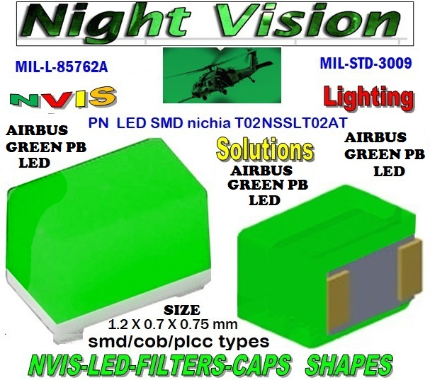 NICHIA NSSLT02AT NICHIA NSSLT02AT , LED NVIS GREEN A 525 nm  FILTER CAP L-65403-R0603-003  L-65196-A0805-003 L-65330-A0805-003 L-65197-B0805-003 L-65250-B0805-003  L-65196-A0603-003 L-65330-A0603-003 L-65197-B0603-003 L-65250-B0603-003 L-65648-W0603-003 L-65951-W0603-003 L-65401-Y0603-003  L-65402-Y0603-003 L-65403-R0603-003 L-65196-A0805-003 L-65330-A0805-003 L-65197-B0805-003 L-65250-B0805-003 L-65648-W0805-003 L-65951-W0805-003 L-65401-Y0805-003 L-65402-Y0805-003 L-65403-R0805-003 L-65196-A1206-002 L-65330-A1206-002  L-65197-B1206-002 L-65250-B1206-002 L-65648-W1206-002  L-65951-W1206-002 L-65401-Y1206-002 L-65402-Y1206-002 L-65403-R1206-002 SMD-PLCC LED  NVIS AIRBUS GREEN PB  FILTER CAP 1206 LED NVIS AIRBUS GREEN BP FILTER 1206 LED NVIS AIRBUS GREEN BP PCB 1206 SMD-PLCC LED NVIS AIRBUS GREEN PB FILTER 1206 SMD-PLCC LED NVIS AIRBUS GREEN PB PCB L-65196-A1206-003 L-65330-A1206-003 L-65197-B1206-003 L-65250-B1206-003  L-65648-W1206-003 L-65951-W1206-003 L-65401-Y1206-003 L-65402-Y1206-003 1206-002 LED NVIS AIRBUS GREEN BP FILTER 1206-002 LED NVIS AIRBUS GREEN BP PCB  1206-002 SMD-PLCC LED NVIS AIRBUS GREEN PB FILTER 1206-002 SMD-PLCC LED NVIS AIRBUS GREEN PB PCB   L-65403-R1206-003   L-65196-A320-001 L-65330-A320-001 L-65197-B320-001 L-65250-B320-001 L-65648-W320-001  L-65951-W320-001 L-65401-Y320-001 L-65402-Y320-001 L-65403-R320-001 L-65196-A670-001 L-65330-A670-001 L-65197-B670-001 L-65250-B670-001 L-65648-W670-001 0805 LED NVIS AIRBUS GREEN BP FILTER  0805 LED NVIS AIRBUS GREEN BP PCB  0805 SMD-PLCC LED NVIS AIRBUS GREEN PB FILTER  0805 SMD-PLCC LED NVIS AIRBUS GREEN PB PCB   0805-003 LED NVIS AIRBUS GREEN BP FILTER 0805-003 LED NVIS AIRBUS GREEN BP PCB  0805-003 SMD-PLCC LED NVIS AIR BUS GREEN PB FILTER  0805-003 SMD-PLCC LED NVIS AIR BUS GREEN PB PCB  L-65401-Y670-001 L-65401-Y670-001 L-65403-R670-001 L-65196-A460-001 L-65196-A460-001 L-65197-B460-001 L-65250-B460-001 L-65648-W460-001 L-65951-W460-001 L-65401-Y460-001 L-65402-Y460-001 L-65403-R460-001 0603 LE
