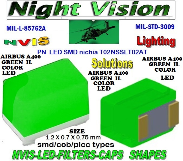 NICHIA NSSLT02AT NICHIA NSSLT02AT , LED NVIS GREEN A 525 nm  FILTER CAPL-65403-R0603-003  L-65196-A0805-003 L-65330-A0805-003 L-65197-B0805-003 L-65250-B0805-003   L-65196-A0603-003 L-65330-A0603-003 L-65197-B0603-003 L-65250-B0603-003 L-65648-W0603-003 L-65951-W0603-003 L-65401-Y0603-003  L-65402-Y0603-003 L-65403-R0603-003 L-65196-A0805-003 L-65330-A0805-003 L-65197-B0805-003 L-65250-B0805-003 L-65648-W0805-003 L-65951-W0805-003 L-65401-Y0805-003 L-65402-Y0805-003 L-65403-R0805-003 L-65196-A1206-002 L-65330-A1206-002  L-65197-B1206-002 L-65250-B1206-002 L-65648-W1206-002  L-65951-W1206-002 L-65401-Y1206-002 L-65402-Y1206-002 L-65403-R1206-002 SMD-PLCC LED  NVIS AIRBUS A400 GREEN IL COLOR FILTER CAP 1206 AIRBUS A400 GREEN IL COLOR FILTER 1206 AIRBUS A400 GREEN IL COLOR FILTER PCB  1206 SMD- PLCC LED NVIS AIRBUS A 400 GREEN IL COLOR FILTER  1206 SMD- PLCC LED NVIS AIRBUS A 400 GREEN IL COLOR PCB L-65196-A1206-003 L-65330-A1206-003 L-65197-B1206-003 L-65250-B1206-003  L-65648-W1206-003 L-65951-W1206-003 L-65401-Y1206-003 L-65402-Y1206-003 1206-002 LED AIRBUS A400 GREEN IL COLOR FILTER 1206-002 LED AIRBUS A400 GREEN IL COLOR FILTER PCB 1206-002 SMD- PLCC LED NVIS AIRBUS A 400 GREEN IL COLOR FILTER 1206-002 SMD - PLCC LED NVIS AIRBUS A 400 GREEN IL COLOR  L-65403-R1206-003   L-65196-A320-001 L-65330-A320-001 L-65197-B320-001 L-65250-B320-001 L-65648-W320-001  L-65951-W320-001 L-65401-Y320-001 L-65402-Y320-001 L-65403-R320-001 L-65196-A670-001 L-65330-A670-001 L-65197-B670-001 L-65250-B670-001 L-65648-W670-001 0805 LED NVIS AIRBUS A400 GREEN IL COLOR FILTER  0805 LED NVIS AIRBUS A400 GREEN IL COLOR FILTER PCB 0805 SMD- PLCC LED NVIS AIRBUS A 400 GREEN IL COLOR FILTER 0805 SMD- PLCC LED NVIS AIRBUS A 400 GREEN IL COLOR PCB   0805-003 SMD LED AIRBUS A400 GREEN IL COLOR FILTER  0805-003 SMD LED AIRBUS A400 GREEN IL COLOR FILTER PCB  0805-003 SMD-PLCC LED NVIS AIRBUS A 400 GREEN IL COLOR FILTER  0805-003 SMD - PLCC LED NVIS AIRBUS A 400 GREEN IL COLOR PCB  L-65401-Y670-001 