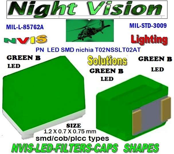 NICHIA NSSLT02AT NICHIA NSSLT02AT , LED NVIS GREEN A 525 nm  FILTER CAP 1206 SMD LED NVIS GREEN B 525 NM FILTER 1206 SMD LED NVIS GREEN B PCB 1206 SMD-PLCC LED NVIS GREEN B 525 NM FILTER 1206 SMD-PLCC LED NVIS GREEN B NM PCB L-65403-R0603-003  L-65196-A0805-003 L-65330-A0805-003 L-65197-B0805-003 L-65250-B0805-003  L-65196-A0603-003 L-65330-A0603-003 L-65197-B0603-003 L-65250-B0603-003 L-65648-W0603-003 L-65951-W0603-003 L-65401-Y0603-003  L-65402-Y0603-003 L-65403-R0603-003 L-65196-A0805-003 L-65330-A0805-003 L-65197-B0805-003 L-65250-B0805-003 L-65648-W0805-003 L-65951-W0805-003 L-65401-Y0805-003 L-65402-Y0805-003 L-65403-R0805-003 L-65196-A1206-002 L-65330-A1206-002  L-65197-B1206-002 L-65250-B1206-002 L-65648-W1206-002  L-65951-W1206-002 L-65401-Y1206-002 L-65402-Y1206-002 L-65403-R1206-002 SMD-PLCC  LED NVIS GREEN B 525nm  FILTER CAP 1206 SMD LED NVIS GREEN B 525 NM FILTER 1206 SMD LED NVIS GREEN B PCB 1206 SMD-PLCC LED NVIS GREEN B 525 NM FILTER 1206 SMD-PLCC LED NVIS GREEN B NM PCB L-65196-A1206-003 L-65330-A1206-003 L-65197-B1206-003 L-65250-B1206-003  L-65648-W1206-003 L-65951-W1206-003 L-65401-Y1206-003 L-65402-Y1206-003 1206-002 SMD LED NVIS GREEN B 5252 NM FILTER 1206-002 SMD LED NVIS GREEN B PCB 1206-002 SMD-PLCC LED NVIS GREEN B 525 NM FILTER  1206-002 SMD-PLCC LED NVIS GREEN B NM PCB 1206-006 SMD LED NVIS GREEN B 5252 NM FILTER                                       1206-006 SMD LED NVIS GREEN B PCB1206-006 SMD-PLCC LED NVIS GREEN B 525 NM FILTER1206-006 SMD-PLCC LED NVIS GREEN B NM PCB    L-65403-R1206-003   L-65196-A320-001 L-65330-A320-001 L-65197-B320-001 L-65250-B320-001 L-65648-W320-001 L-65951-W320-001 L-65401-Y320-001 0805 SMD LED NVIS GREEN B 5252 NM FILTER0805 SMD LED NVIS GREEN B PCB0805 SMD-PLCC LED NVIS GREEN B 525 NM FILTER  0805 SMD-PLCC LED NVIS GREEN B NM PCB  L-65402-Y320-001 L-65403-R320-001 L-65196-A670-001 L-65330-A670-001 L-65197-B670-001 L-65250-B670-001 L-65648-W670-001 0805-003 SMD LED NVIS GREEN B 5252 NM FILTER  0805-003 SMD LED NVIS GREEN B PCB 0805-003 SMD-PLCC LED NVIS GREEN B 525 NM  0603 SMD LED NVIS GREEN B 525 NM FILTER0603 SMD LED NVIS GREEN B PCB0603 SMD-PLCC LED NVIS GREEN B 525 NM FILTER 0603 SMD-PLCC LED NVIS GREEN B NM PCB  L-65951-W670-001   L-65401-Y670-001 L-65401-Y670-001 L-65403-R670-001 L-65196-A460-001 L-65196-A460-001 L-65197-B460-001 L-65250-B460-001 L-65648-W460-001 L-65951-W460-001 L-65401-Y460-001 L-65402-Y460-001 L-65403-R460-001 0603-003 SMD LED NVIS GREEN B 5252 NM FILTER     0603-003 SMD LED NVIS GREEN B PCB    0603-003 SMD-PLCC LED NVIS GREEN B 525 NM FILTER   0603-003 SMD-PLCC LED NVIS GREEN B NM PCB  L-65951-W955-001 L-65401-Y955- 001 L-65401-Y0805-003 L-65402-Y0805-003  L-65403-R0805-003  L-65197-B1206-002 L-65250-B1206-002 L-65648-W1206-002 L-65951-W1206-002 L-65401-Y1206-002 L-65402-Y1206-002 L-65403-R1206-002 L-65197-B1206-003 L-65250-B1206-003 L-65648-W1206-003 L-65951-W1206-003 L-65401-Y1206-003 L-65402-Y1206-003 L-65403-R1206-003 L-65196-A320-001 L-65330-A320-001 L-65197-B320-001 L-65250-B320-001 L-65648-W320-001 L-65951-W320-001 L-65401-Y320-001 L-65402-Y320-001 L-65403-R320-001 L-65196-A670-001 L-65330-A670-001 L-65197-B670-001 L-65250-B670-001 L-65648-W670-001 L-65951-W670-001 L-65401-Y670-001 L-65401-Y670-001 L-65403-R670-001 L-65196-A460-001 L-65196-A460-001  L-65196-A1206-002 L-65330-A1206-002 L-65196-A1206-003 L-65330-A1206-003 L-65197-B460-001  L-65250-B460-001 L-65648-W460-001 L-65951-W460-001 L-65401-Y460-001 L-65402-Y460-001 L-65403-R460-001 L-65196-A955-001 L-65330-A955-001 L-65197-B955-001 L-65250-B955-001 L-65648-W955-001 L-65951-W955-001 L-65401-Y955- 001  1206-003 SMD LED NVIS GREEN A FILTER  1206-003 SMD LED NVIS GREEN A PCB  1206-003 SMD LED-PLCC NVIS GREEN A FILTER  1206-003 SMD LED-PLCC NVIS GREEN A PCB     1206-006 SMD LED NVIS GREEN B 5252 NM FILTER 1206-006 SMD LED NVIS GREEN B PCB 1206-006 SMD-PLCC LED NVIS GREEN B 525 NM FILTER  1206-006 SMD-PLCC LED NVIS GREEN B NM PCB  0805 SMD LED NVIS GREEN B 5252 NM FILTER  0805 SMD LED NVIS GREEN B PCB  0805 SMD-PLCC LED NVIS GREEN B 525 NM FILTER  0805 SMD-PLCC LED NVIS GREEN B NM PCB  330 SMD PLCC LED 330 LED NVIS COCKPIT LIGHTING 330 LED HELICOPTERS NIGHT VISION LIGHTING NVIS FILTER L-65196-A0603-003 L-65330-A0603-003  0805-003 SMD LED NVIS GREEN B 5252 NM FILTER    0805-003 SMD LED NVIS GREEN B PCB   0805-003 SMD-PLCC LED NVIS GREEN B 525 NM FILTER   0805-003 SMD-PLCC LED NVIS GREEN B NM PCB     0603 SMD LED NVIS GREEN B 525 NM FILTER       0603 SMD LED NVIS GREEN B 525 NM PCB       0603 SMD-PLCC LED NVIS GREEN B 525 NM FILTER       0603 SMD-PLCC LED NVIS GREEN B 525 NM PCB        0603-003 SMD LED NVIS GREEN B 5252 NM FILTER       0603-003 SMD LED NVIS GREEN B 525 NM PCB      0603-003 SMD-PLCC LED NVIS GREEN B 525 NM FILTER     0603-003 SMD-PLCC LED NVIS GREEN B NM PCB    0805-003 SMD LED NVIS GREEN B FILTER     0805-003 SMD LED NVIS GREEN B PCB      0805-003 SMD-PLCC LED NVIS GREEN B FILTER   0805-003 SMD-PLCC LED NVIS GREEN B PCB     0603 SMD LED NVIS GREEN B FILTER        0603 SMD LED NVIS GREEN B PCB       0603 SMD-PLCC LED NVIS GREEN B FILTER       0603 SMD-PLCC LED NVIS GREEN B PCB      0603-003 SMD LED NVIS GREEN B FILTER    0603-003 SMD LED NVIS GREEN B PCB      0603-003 SMD-PLCC LED NVIS GREEN B FILTER    0603-003 SMD-PLCC LED NVIS GREEN B PCB      670 SMD LED GREEN B 525 NM FILTER  670 SMD LED GREEN B PCB  670 SMD-PLCC LED NVIS GREEN B 525 NM FILTER  670 SMD-PLCC LED NVIS GREEN B NM PCB  670-001 SMD LED NVIS GREEN B 525 nm FILTER CAP 670-001 SMD LED NVIS GREEN B nm PCB  670-001 SMD-PLCC LED NVIS GREEN B 525 nm FILTER CAP 670-001 SMD-PLCC LED NVIS GREEN B nm PCB L-65196-A0603-003 NFSW157AT-H3 NICHIA SMD-PLCC LED NVIS GREEN B 525 NM  NSCW100 NICHIA SMD-PLCC LED NVIS GREEN B 525 NM FILTER CAP L-65197-B0603-003 L-65250-B0603-003  L-65648-W0603-003 L-65951-W0603-003 L-65401-Y0603-003 L-65402-Y0603-003  L-65403-R0603-003 L-65196-A0805-003 L-65403-R0603-003 L-65196-A0805-003  L-65330-A0805-003 L-65197-B0805-003 L-65250-B0805-003 L-65951-W0805-003 L-65648-W0805-003 L-65401-Y0805-003 L-65402-Y0805-003 L-65403-R0805-003 L-65196-A1206-002 L-65330-A1206-002   NSSW100DT NICHIA SMD-PLCC LED NVIS GREEN B 525 nm FILTER CAP    5050 SMD-PLCC LED NVIS GREEN B 525 nm FILTER CAP     330 SMD-PLCC LED NVIS GREEN B 525 nm FILTER CAP L-65197-B1206-002 L-65250-B1206-002 L-65648-W1206-002 L-65951-W1206-002 L-65401-Y1206-002L-65402-Y1206-002 L-65403-R1206-002 L-65196-A1206-003 L-65330-A1206-003 L-65197-B1206-003L-65250-B1206-003 L-65648-W1206-003 L-65951-W1206-003 L-65401-Y1206-003 L-65402-Y1206-003 L-65403-R1206-003L-65196-A320-001 L-65330-A320-001 L-65197-B320-001 L-65250-B320-001 L-65648-W320-001 L-65951-W320-001 L-65401-Y320-001  L-65402-Y320-001 L-65403-R320-001 L-65196-A670-001 L-65330-A670-001 L-65197-B670-001 L-65250-B670-001 L-65648-W670-001L-65951-W670-001 L-65401-Y670-001 L-65401-Y670-001 L-65403-R670-001 L-65196-A460-001 L-65196-A460-001 L-65197-B460-001       330-001 SMD LED NVIS GREEN B 525 nm FILTER CAP       330-001 SMD LED NVIS GREEN B nm PCB   330-001 SMD-PLCC LED NVIS GREEN B 525 nm FILTER CAP       330-001 SMD-PLCC LED NVIS GREEN B nm PCB   NESSW064AT NICHIA SMD-PLCC LED NVIS GREEN B 525 nm FILTER CAP       NSSW204BT NICHIA SMD-PLCC LED NVIS GREEN B 525 nm FILTER CAP  L-65250-B460-001 L-65648-W460-001 L-65951-W460-001 L-65401-Y460-001 L-65402-Y460-001 L-65403-R460-001 L-65196-A955-001 L-65330-A955-001 L-65197-B955-001 L-65250-B955-001 L-65648-W955-001 L-65951-W955-001 L-65401-Y955- 001  955 SMD PLCC LED 955 LED 955 LED NVIS  955 LED HELICOPTERS NIGHT VISION LIGHTING   955 NVIS FILTER  955 Night Vision Imaging Systems (NVIS)  955 PILOT NIGHT VISION NVIS ILLUMINATION  955 NVIS Aircraft Upgrades | Night Vision Goggles 955 PILOT NIGHT VISION NVIS ILLUMINATION  955 LED SWITCHES, KEYBOARDS, DIALS, AND DISPLAYS 955 COCKPIT MODIFICATION 955 NVIS compatible lights  955 NVIS filters . NVG lighting 955 NVG lighting control panel customized 955 SMD LED 955 NVIS compatible lights  955 NVIS compatible lights CHIP  955 SMD LED NVIS  955 SMD LED NIGHT VISION  955 SMD PLCC LED AVIONICS 955 AVIONICS NIGHT VISION LIGHTING 955 AVIONICS MODIFICATIONS TO NIGHT VISION  955 LED AVIONICS UPGRADES TO NVIS 955 LED NVIS GREEN A 955 IMPACT SOLAR FILTER NVIS 955 LED NVIS GREEN B 955 LED NVIS WHITE  955 LED NVIS RED  955 LED AIRBUS A 400 GREEN  955-001 SMD PLCC LED 955-001 LED   955-001 LED NVIS  955-001 LED HELICOPTERS NIGHT VISION LIGHTING  955-001 NVIS FILTER 955-001 Night Vision Imaging Systems (NVIS) 955-001 PILOT NIGHT VISION NVIS ILLUMINATION  955-001 NVIS Aircraft Upgrades | Night Vision Goggles 955-001 LED SWITCHES, KEYBOARDS, DIALS, AND DISPLAYS 955-001 COCKPIT MODIFICATION  955-001 NVIS compatible lights    955-001 NVIS filters . NVG lighting  955-001 NVG lighting control panel customized   955-001 SMD LED 955-001 NVIS compatible lights  955-001 NVIS compatible lights CHIP 955-001 SMD LED NVIS 955-001 SMD LED NIGHT VISION 955-001 SMD PLCC LED AVIONICS 955-001 AVIONICS NIGHT VISION LIGHTING 955-001 AVIONICS MODIFICATIONS TO NIGHT VISION 955-001 LED AVIONICS UPGRADES TO NVIS 955-001 LED NVIS GREEN A 955-001 IMPACT SOLAR FILTER NVIS 955-001 LED NVIS GREEN B 955-001 LED NVIS WHITE 955-001 LED NVIS RED 955-001 LED AIRBUS A 400 GREEN 670 SMD LED 670 NVG lighting control panel customized  670 NVIS filters . NVG lighting