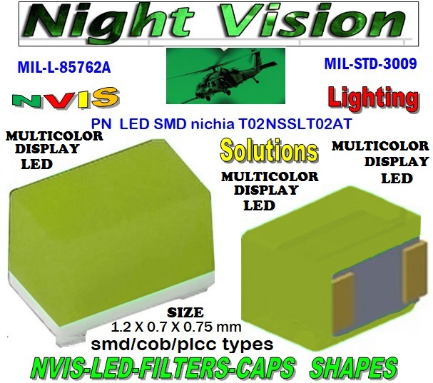 NICHIA NSSLT02AT NICHIA NSSLT02AT , LED NVIS GREEN A 525 nm  FILTER CAP  L-65196-A0603-003 L-65403-R0603-003  L-65196-A0805-003 L-65330-A0805-003 L-65197-B0805-003 L-65250-B0805-003  L-65330-A0603-003 L-65197-B0603-003 L-65250-B0603-003 L-65648-W0603-003 L-65951-W0603-003 L-65401-Y0603-003  L-65402-Y0603-003 L-65403-R0603-003 L-65196-A0805-003 L-65330-A0805-003 L-65197-B0805-003 L-65250-B0805-003 L-65648-W0805-003 L-65951-W0805-003 L-65401-Y0805-003 L-65402-Y0805-003 L-65403-R0805-003 L-65196-A1206-002 L-65330-A1206-002  L-65197-B1206-002 L-65250-B1206-002 L-65648-W1206-002  L-65951-W1206-002 L-65401-Y1206-002 L-65402-Y1206-002 L-65403-R1206-002 SMD-PLCC  LED NVIS MULTICOLOR DISPLAY FILTER CAP 1206 LED NVIS MULTICOLOR DISPLAY FILTER 1206 LED NVIS MULTICOLOR DISPLAY PCB 1206 SMD-PLCC LED NVIS MULTI COLOR DISPLAY FILTER 1206 SMD-PLCC LED NVIS MULTI COLOR DISPLAY PCB L-65196-A1206-003 L-65330-A1206-003 L-65197-B1206-003 L-65250-B1206-003  L-65648-W1206-003 L-65951-W1206-003 L-65401-Y1206-003 L-65402-Y1206-003 1206-002 LED NVIS MULTICOLOR DISPLAY FILTER 1206-002 LED NVIS MULTICOLOR DISPLAY PCB 1206-002 SMD-PLCC LED NVIS MULTI COLOR DISPLAY FILTER 1206-002 SMD-PLCC LED NVIS MULTI COLOR DISPLAY PCB  L-65403-R1206-003   L-65196-A320-001 L-65330-A320-001 L-65197-B320-001 L-65250-B320-001 L-65648-W320-001  L-65951-W320-001 L-65401-Y320-0010805 LED NVIS MULTICOLOR DISPLAY FILTER0805 LED NVIS MULTICOLOR DISPLAY PCB0805 SMD-PLCC LED NVIS MULTI COLOR DISPLAY FILTER0805 SMD-PLCC LED NVIS MULTI COLOR DISPLAY PCB L-65402-Y320-001 L-65403-R320-001 L-65196-A670-001 L-65330-A670-001 L-65197-B670-001 L-65250-B670-001 L-65648-W670-001  0805-003 NVIS LED MULTICOLOR DISPLAY FILTER 0805-003 NVIS LED MULTICOLOR DISPLAY PCB 0805-003 SMD-PLCC LED NVIS MULTI COLOR DISPLAY FILTER  0805-003 SMD-PLCC LED NVIS MULTI COLOR DISPLAY PCB 0603 LED NVIS MULTICOLOR DISPLAY FILTER0603 LED NVIS MULTICOLOR DISPLAY PCB0603 SMD-PLCC LED NVIS MULTI COLOR DISPLAY FILTER0603 SMD-PLCC LED NVIS MULTI COLOR DISPLAY