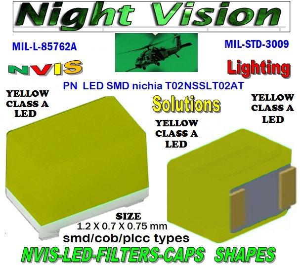 NICHIA NSSLT02AT NICHIA NSSLT02AT , LED NVIS GREEN A 525 nm  FILTER CAP  L-65196-A0603-003 L-65403-R0603-003  L-65196-A0805-003 L-65330-A0805-003 L-65197-B0805-003 L-65250-B0805-003  L-65330-A0603-003 L-65197-B0603-003 L-65250-B0603-003 L-65648-W0603-003 L-65951-W0603-003 L-65401-Y0603-003  L-65402-Y0603-003 L-65403-R0603-003 L-65196-A0805-003 L-65330-A0805-003 L-65197-B0805-003 L-65250-B0805-003 L-65648-W0805-003 L-65951-W0805-003 L-65401-Y0805-003 L-65402-Y0805-003 L-65403-R0805-003 L-65196-A1206-002 L-65330-A1206-002  L-65197-B1206-002 L-65250-B1206-002 L-65648-W1206-002  L-65951-W1206-002 L-65401-Y1206-002 L-65402-Y1206-002 L-65403-R1206-002 SMD-PLCC LED NVIS YELLOW CLASS A FILTER CAP 1206 LED NVIS YELLOW CLASS A FILTER 1206 LED NVIS YELLOW CLASS A PCB 1206 SMD-PLCC LED NVIS YELLOW CLASS A FILTER 1206 SMD-PLCC LED NVIS YELLOW CLASS A PCB L-65196-A1206-003 L-65330-A1206-003 L-65197-B1206-003 L-65250-B1206-003  L-65648-W1206-003 L-65951-W1206-003 L-65401-Y1206-003 L-65402-Y1206-003 1206-002 LED NVIS YELLOW CLASS A FILTER 1206-002 LED NVIS YELLOW CLASS A PCB 1206-002 SMD-PLCC LED NVIS YELLOW CLASS A FILTER 1206-002 SMD-PLCC LED NVIS YELLOW CLASS A PCB  1206-003 LED NVIS YELLOW CLASS A FILTER1206-003 LED NVIS YELLOW CLASS A PCB 1206-003 SMD-PLCC LED NVIS YELLOW CLASS A FILTER 1206-003 SMD-PLCC LED NVIS YELLOW CLASS A PCB  L-65403-R1206-003   L-65196-A320-001 L-65330-A320-001 L-65197-B320-001 L-65250-B320-001 L-65648-W320-001  L-65951-W320-001 L-65401-Y320-001 0805 LED NVIS YELLOW CLASS A FILTER0805 LED NVIS YELLOW CLASS A PCB0805 SMD-PLCC LED NVIS YELLOW CLASS A FILTER 0805 SMD-PLCC LED NVIS YELLOW CLASS A PCB L-65402-Y320-001 L-65403-R320-001 L-65196-A670-001 L-65330-A670-001 L-65197-B670-001 L-65250-B670-001 L-65648-W670-001 0805-003 LED NVIS YELLOW CLASS A FILTER 0805-003 LED NVIS YELLOW CLASS A PCB 0805-003 SMD-PLCC LED NVIS YELLOW CLASS A FILTER 0805-003 SMD-PLCC LED NVIS YELLOW CLASS A PCB L-65951-W670-001   L-65401-Y670-001 L-65401-Y670-001 L-65403-R670-001 L-65196-A460-001 L-65196-A460-001 L-65197-B460-001 L-65250-B460-001 L-65648-W460-001 L-65951-W460-001 L-65401-Y460-001 L-65402-Y460-001 L-65403-R460-001 0603-003 LED NVIS YELLOW CLASS A FILTER 0603-003 LED NVIS YELLOW CLASS A PCB 0603-003 SMD-PLCC LED NVIS YELLOW CLASS A FILTER 0603-003 SMD-PLCC LED NVIS YELLOW CLASS A PCB L-65951-W955-001 L-65401-Y955- 001 L-65401-Y0805-003 L-65402-Y0805-003  L-65403-R0805-003  L-65197-B1206-002 L-65250-B1206-002 L-65648-W1206-002 L-65951-W1206-002 L-65401-Y1206-002 L-65402-Y1206-002 L-65403-R1206-002 L-65197-B1206-003 L-65250-B1206-003 L-65648-W1206-003 L-65951-W1206-003L-65401-Y1206-003 L-65402-Y1206-003 L-65403-R1206-003 L-65196-A320-001 L-65330-A320-001 L-65197-B320-001 L-65250-B320-001 L-65648-W320-001 L-65951-W320-001 L-65401-Y320-001 L-65402-Y320-001 L-65403-R320-001 L-65196-A670-001 L-65330-A670-001 L-65197-B670-001 L-65250-B670-001 L-65648-W670-001 L-65951-W670-001 L-65401-Y670-001 L-65401-Y670-001 L-65403-R670-001 L-65196-A460-001 L-65196-A460-001  L-65196-A1206-002 L-65330-A1206-002 L-65196-A1206-003 L-65330-A1206-003 L-65197-B460-001  L-65250-B460-001 L-65648-W460-001 L-65951-W460-001 L-65401-Y460-001 L-65402-Y460-001 L-65403-R460-001 L-65196-A955-001 L-65330-A955-001 L-65197-B955-001 L-65250-B955-001 L-65648-W955-001 L-65951-W955-001 L-65401-Y955- 001 1206-006 LED NVIS YELLOW CLASS A FILTER 1206-006 LED NVIS YELLOW CLASS A PCB 1006 SMD-PLCC LED NVIS YELLOW CLASS A FILTER 1206-006 SMD-PLCC LED NVIS YELLOW CLASS A PCB   0805 LED NVIS YELLOW CLASS A FILTER  0805 LED NVIS YELLOW CLASS A PCB  0805 SMD-PLCC LED NVIS YELLOW CLASS A FILTER  0805 SMD-PLCC LED NVIS YELLOW CLASS A PCB 330 SMD PLCC LED 330 LED NVIS COCKPIT LIGHTING 330 LED HELICOPTERS NIGHT VISION LIGHTING NVIS FILTER L-65196-A0603-003 L-65330-A0603-003   0805-003 LED NVIS YELLOW CLASS A FILTER   0805-003 LED NVIS YELLOW CLASS A PCB   0805-003 SMD-PLCC LED NVIS YELLOW CLASS A FILTER   0805-003 SMD-PLCC LED NVIS YELLOW CLASS A PCB    0603 LED NVIS YELLOW CLASS A FILTER       0603 LED NVIS YELLOW CLASS A PCB       0603 SMD-PLCC LED NVIS YELLOW CLASS A FILTER       0603 SMD-PLCC LED NVIS YELLOW CLASS A PCB        0603-003 LED NVIS YELLOW CLASS A FILTER   0603-003 LED NVIS YELLOW CLASS A PCB   0603-003 SMD-PLCC LED NVIS YELLOW CLASS A FILTER   0603-003 SMD-PLCC LED NVIS YELLOW CLASS A PCB   670 SMD-PLCC LED NVIS YELLOW CLASS A FILTER FILTER CAP 670-001 LED NVIS YELLOW CLASS A FILTER CAP 670-001 LED NVIS YELLOW CLASS A PCB  670-001 SMD-PLCC LED NVIS YELLOW CLASS A FILTER CAP 670-001 SMD-PLCC LED NVIS YELLOW CLASS A PCB L-65196-A0603-003 NFSW157AT-H3 NICHIA SMD-PLCC LED NVIS YELLOW CLASS CARNADA  NSCW100 NICHIA SMD-PLCC LED NVIS YELLOW CLASS CARNADA L-65197-B0603-003 L-65250-B0603-003  L-65648-W0603-003 L-65951-W0603-003 L-65401-Y0603-003 L-65402-Y0603-003  L-65403-R0603-003 L-65196-A0805-003 L-65403-R0603-003 L-65196-A0805-003  L-65330-A0805-003 L-65197-B0805-003 L-65250-B0805-003 L-65951-W0805-003 L-65648-W0805-003 L-65401-Y0805-003 L-65402-Y0805-003 L-65403-R0805-003 L-65196-A1206-002 L-65330-A1206-002   NSSW100DT NICHIA SMD-PLCC LED NVIS YELLOW CLASS CARNADA   5050 SMD-PLCC LED NVIS YELLOW CLASS CARNADA   330 SMD-PLCC LED NVIS YELLOW CLASS CARNADA L-65197-B1206-002 L-65250-B1206-002 L-65648-W1206-002 L-65951-W1206-002 L-65401-Y1206-002L-65402-Y1206-002 L-65403-R1206-002 L-65196-A1206-003 L-65330-A1206-003 L-65197-B1206-003L-65250-B1206-003 L-65648-W1206-003 L-65951-W1206-003 L-65401-Y1206-003 L-65402-Y1206-003 L-65403-R1206-003L-65196-A320-001 L-65330-A320-001 L-65197-B320-001 L-65250-B320-001 L-65648-W320-001 L-65951-W320-001 L-65401-Y320-001  L-65402-Y320-001 L-65403-R320-001 L-65196-A670-001 L-65330-A670-001 L-65197-B670-001 L-65250-B670-001 L-65648-W670-001L-65951-W670-001 L-65401-Y670-001 L-65401-Y670-001 L-65403-R670-001 L-65196-A460-001 L-65196-A460-001 L-65197-B460-001  330-001 LED NVIS YELLOW CLASS A FILTER CAP       330-001 LED NVIS YELLOW CLASS A PCB   330-001 SMD-PLCC LED NVIS YELLOW CLASS A FILTER CAP      330-001 SMD-PLCC LED NVIS YELLOW CLASS A PCB  NESSW064AT NICHIA SMD-PLCC LED NVIS YELLOW CLASS     NSSW204BT NICHIA SMD-PLCC LED NVIS YELLOW CLASS  L-65250-B460-001 L-65648-W460-001 L-65951-W460-001 L-65401-Y460-001 L-65402-Y460-001 L-65403-R460-001 L-65196-A955-001 L-65330-A955-001 L-65197-B955-001 L-65250-B955-001 L-65648-W955-001 L-65951-W955-001 L-65401-Y955- 001 955 SMD PLCC LED  955 LED 955 LED NVIS  955 LED HELICOPTERS NIGHT VISION LIGHTING   955 NVIS FILTER  955 Night Vision Imaging Systems (NVIS)  955 PILOT NIGHT VISION NVIS ILLUMINATION  955 NVIS Aircraft Upgrades | Night Vision Goggles 955 PILOT NIGHT VISION NVIS ILLUMINATION  955 LED SWITCHES, KEYBOARDS, DIALS, AND DISPLAYS 955 COCKPIT MODIFICATION 955 NVIS compatible lights   955 NVIS filters . NVG lighting 955 NVG lighting control panel customized 955 SMD LED  955 NVIS compatible lights  955 NVIS compatible lights CHIP  955 SMD LED NVIS  955 SMD LED NIGHT VISION  955 SMD PLCC LED AVIONICS 955 AVIONICS NIGHT VISION LIGHTING 955 AVIONICS MODIFICATIONS TO NIGHT VISION   955 LED AVIONICS UPGRADES TO NVIS 955 LED NVIS GREEN A 955 IMPACT SOLAR FILTER NVIS 955 LED NVIS GREEN B 955 LED NVIS WHITE  955 LED NVIS RED  955 LED AIRBUS A 400 GREEN  955-001 SMD PLCC LED 955-001 LED   955-001 LED NVIS  955-001 LED HELICOPTERS NIGHT VISION LIGHTING  955-001 NVIS FILTER 955-001 Night Vision Imaging Systems (NVIS) 955-001 PILOT NIGHT VISION NVIS ILLUMINATION  955-001 NVIS Aircraft Upgrades | Night Vision Goggles 955-001 LED SWITCHES, KEYBOARDS, DIALS, AND DISPLAYS 955-001 COCKPIT MODIFICATION  955-001 NVIS compatible lights    955-001 NVIS filters . NVG lighting  955-001 NVG lighting control panel customized   955-001 SMD LED  955-001 NVIS compatible lights  955-001 NVIS compatible lights CHIP 955-001 SMD LED NVIS 955-001 SMD LED NIGHT VISION 955-001 SMD PLCC LED AVIONICS 955-001 AVIONICS NIGHT VISION LIGHTING 955-001 AVIONICS MODIFICATIONS TO NIGHT VISION 955-001 LED AVIONICS UPGRADES TO NVIS 955-001 LED NVIS GREEN A 955-001 IMPACT SOLAR FILTER NVIS 955-001 LED NVIS GREEN B 955-001 LED NVIS WHITE 955-001 LED NVIS RED 955-001 LED AIRBUS A 400 GREEN 670 SMD LED 670 NVG lighting control panel customized  670 NVIS filters . NVG lighting