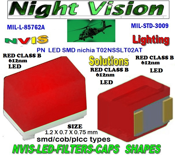 NICHIA NSSLT02AT NICHIA NSSLT02AT , LED NVIS GREEN A 525 nm  FILTER CAP L-65403-R0603-003  L-65196-A0805-003 L-65330-A0805-003 L-65197-B0805-003 L-65250-B0805-003   L-65196-A0603-003 L-65330-A0603-003 L-65197-B0603-003 L-65250-B0603-003 L-65648-W0603-003 L-65951-W0603-003 L-65401-Y0603-003  L-65402-Y0603-003 L-65403-R0603-003 L-65196-A0805-003 L-65330-A0805-003 L-65197-B0805-003 L-65250-B0805-003 L-65648-W0805-003 L-65951-W0805-003 L-65401-Y0805-003 L-65402-Y0805-003 L-65403-R0805-003 L-65196-A1206-002 L-65330-A1206-002  L-65197-B1206-002 L-65250-B1206-002 L-65648-W1206-002  L-65951-W1206-002 L-65401-Y1206-002 L-65402-Y1206-002 L-65403-R1206-002 SMD-PLCC LED NVIS RED CLASS B 612 nm FILTER CAP   1206 SMD LED NVIS RED CLASS B 612 NM FILTER 1206 SMD LED NVIS RED CLASS B 612 NM PCB 1206 SMD-PLCC LED NVIS RED CLASS B 612 NM FILTER 1206 SMD-PLCC LED NVIS RED CLASS B 612 NM FILTER PCB L-65196-A1206-003 L-65330-A1206-003 L-65197-B1206-003 L-65250-B1206-003  L-65648-W1206-003 L-65951-W1206-003 L-65401-Y1206-003 L-65402-Y1206-003 1206-002 SMD LED NVIS RED CLASS B 612 NM FILTER 1206-002 SMD LED NVIS RED CLASS B 612 NM PCB 1206-002 SMD LED-PLCC LED NVIS RED CLASS B 612 NM FILTER 1206-002 SMD LED-PLCC LED NVIS RED CLASS B 612 NM FILTER PCB   1206-002 SMD LED NVIS RED CLASS B 612 NM FILTER  1206-002 SMD LED NVIS RED CLASS B 612 NM PCB  1206-002 SMD LED-PLCC LED NVIS RED CLASS B 612 NM FILTER 1206-002 SMD LED-PLCC LED NVIS RED CLASS B 612 NM FILTER PCB   L-65403-R1206-003   L-65196-A320-001 L-65330-A320-001 L-65197-B320-001 L-65250-B320-001 L-65648-W320-001  L-65951-W320-001 L-65401-Y320-001 L-65402-Y320-001 L-65403-R320-001 L-65196-A670-001 L-65330-A670-001 L-65197-B670-001 L-65250-B670-001 L-65648-W670-001 0805-003 SMD LED NVIS RED CLASS B 612 NM FILTER  0805-003 SMD LED NVIS RED CLASS B 612 NM PCB  0805-003 SMD-PLCC LED NVIS RED CLASS B 612 NM FILTER  0805-003 SMD-PLCC LED NVIS RED CLASS B 612 NM FILTER PCB L-65951-W670-001   L-65401-Y670-001 L-65401-Y670-001 L-65403-R670-001 L