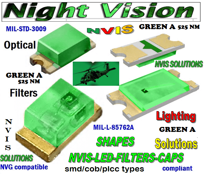 670 SMD LED NVIS GREEN A 525 nm FILTER    670 SMD LED NVIS GREEN A 525 nm PCB   670 SMD-PLCC LED NVIS GREEN A 525 nm FILTER    670 SMD-PLCC LED NVIS GREEN A 525 nm PCB     670-001 SMD LED NVIS GREEN A 525 nm FILTER CAP    670-001 SMD LED NVIS GREEN A 525 nm PCB   670-001 SMD-PLCC LED NVIS GREEN A 525 nm FILTER CAP   670-001 SMD-PLCC LED NVIS GREEN A 525 nm PCB   NFSW157AT-H3 NICHIA SMD-PLCC NVIS GREEN A 525nm FILTER CAP   NSCW100 NICHIA SMD-PLCC LED NVIS GREEN A 525 NM FILTER CAP    NSSW100DT NICHIA SMD-PLCC LED NVIS GREEN A 525 nm FILTER CAP     5050 SMD-PLCC LED NVIS GREEN A 525 nm FILTER CAP     330 LED LIGHTS GREEN A 525 nm FILTER CAP    330-001 SMD LED NVIS GREEN A 525 nm FILTER CAP       330-001 SMD LED NVIS GREEN A 525 nm PCB  330-001 SMD-PLCC LED NVIS GREEN A 525 nm FILTER CAP       330-001 SMD-PLCC LED NVIS GREEN A 525 nm PCB   NESSW064AT NICHIA SMD-PLCC LED NVIS GREEN A 525 nm FILTER CAP       NSSW204BT NICHIA SMD-PLCC LED NVIS GREEN A 525 nm FILTER CAP      320 SMD-PLCC LED NVIS GREEN A 525 nm FILTER CAP 320-001 SMD LED NVIS GREEN A 525 nm FILTER CAP 320-001 SMD LED NVIS GREEN A 525 nm PCB  320-001 SMD-PLCC LED NVIS GREEN A 525 nm FILTER CAP 320-001 SMD-PLCC LED NVIS GREEN A 525 nm PCB  460 SMD-PLCC LED NVIS GREEN A 525 nm FILTER CAP L-65196-A0603-003 L-65330-A0603-003 L-65197-B0603-003 L-65250-B0603-003 L-65648-W0603-003 L-65951-W0603-003 L-65401-Y0603-003 L-65402-Y0603-003   L-65403-R0603-003  L-65196-A0805-003 L-65330-A0805-003 L-65197-B0805-003 L-65250-B0805-003 L-65648-W0805-003 L-65951-W0805-003 L-65401-Y0805-003 L-65402-Y0805-003 L-65403-R0805-003L-65196-A1206-002 L-65330-A1206-002 L-65197-B1206-002L-65250-B1206-002L-65648-W1206-002 L-65951-W1206-002L-65401-Y1206-002 955 SMD PLCC LED 955 LED L-65402-Y1206-002  L-65403-R1206-002 L-65196-A1206-003 L-65330-A1206-003 L-65197-B1206-003 L-65250-B1206-003 L-65648-W1206-003L-65951-W1206-003L-65401-Y1206-003L-65402-Y1206-003 955 LED NVIS 955 LED HELICOPTERS NIGHT VISION LIGHTING   955 NVIS FILTER  L-65403-R