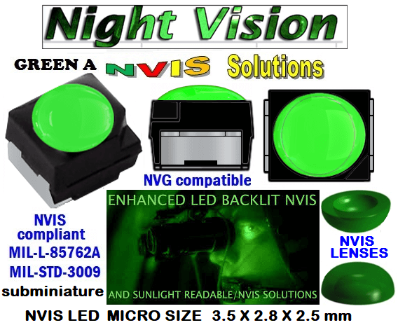 surface mount nvis led FP-1309SMD-WA2-G201-H smd led: nvis smd led  optical products led  subminiature nvis led 3.5 x 2.8 x 2.5 mm size nano nvis led size nvis led lighting nvis upgrades nano subminiature led nvis LEDs Used in Night Vision Imaging Systems (NVIS ...NVG/NVIS for LED Light Sources - avionics Aerospace Nvis optics Lighting optics, nvis filtering nvis optical mini nano led Nano LED Lights‎ LED Mini smd tlcc (Visible & NVIS) | Military & defense  LED Mini smd tlcc  (Visible Lighting optics, nvis filtering nvis optical mini nano led Nano LED Lights‎ LED Mini smd tlcc (Visible & NVIS) | Military & defense LED Mini smd tlcc  (Visible & NVIS) NVIS Filter/SMD LED Assemblies NVIS Compliant SMD Type LEDs - Aerospace  NVIS Compliant Filtered SMD/PLCC Type LEDs  surface mount nvis led FP-1309SMD-WA2-G201-H smd led: nvis smd led  optical products led  subminiature nvis led 3.5 x 2.8 x 2.5 mm size nano nvis led size nvis led lighting nvis upgrades nano subminiature led nvis LEDs Used in Night Vision Imaging Systems (NVIS ...NVG/NVIS for LED Light Sources - avionics Aerospace Nvis optics Lighting optics, nvis filtering nvis optical mini nano led Nano LED Lights‎ LED Mini smd tlcc (Visible & NVIS) | Military & defense  LED Mini smd tlcc  (Visible Lighting optics, nvis filtering nvis optical mini nano led Nano LED Lights‎ LED Mini smd tlcc (Visible & NVIS) | Military & defense LED Mini smd tlcc  (Visible & NVIS) NVIS Filter/SMD LED Assemblies NVIS Compliant SMD Type LEDs - Aerospace  NVIS Compliant Filtered SMD/PLCC Type LEDs  330-001 SMD LED NVIS GREEN A FILTER CAP      330-001 SMD LED NVIS GREEN A PCB   330-001 SMD-PLCC LED NVIS GREEN A FILTER CAP       330-001 SMD-PLCC LED NVIS GREEN A PCB   NESSW064AT NICHIA SMD-PLCC LED NVIS GREEN A FILTER CAP       NSSW204BT NICHIA SMD-PLCC LED NVIS GREEN A FILTER CAP    L-65196-A0603-003 L-65330-A0603-003 L-65197-B0603-003  L-65250-B0603-003 L-65648-W0603-003 L-65951-W0603-003 L-65401-Y0603-003 L-65402-Y0603-003   L-65403-R0603-003  L-65196-A0805-003 L-65330-A0805-003 L-65197-B0805-003 L-65250-B0805-003 L-65648-W0805-003 L-65951-W0805-003  320 SMD-PLCC LED NVIS GREEN A FILTER CAP 320-001SMD LED NVIS GREEN A FILTER CAP 320-001 SMD LED NVIS GREEN A PCB  320-001 SMD-PLCC LED NVIS GREEN A FILTER CAP 320-001 SMD-PLCC LED NVIS GREEN A PCB  460 SMD-PLCC LED NVIS GREEN A FILTER CAP L-65401-Y0805-003 L-65402-Y0805-003 L-65403-R0805-003L-65196-A1206-002 L-65330-A1206-002 L-65197-B1206-002L-65250-B1206-002L-65648-W1206-002 L-65951-W1206-002L-65401-Y1206-002L-65402-Y1206-002  L-65403-R1206-002 L-65196-A1206-003 L-65330-A1206-003 L-65197-B1206-003 L-65250-B1206-003 L-65648-W1206-003L-65951-W1206-003L-65401-Y1206-003L-65402-Y1206-003L-65403-R1206-003L-65196-A320-001L-65330-A320-001 955 LED NVIS 955 LED HELICOPTERS NIGHT VISION LIGHTING   955 NVIS FILTER  L-65197-B320-001 L-65250-B320-001 L-65648-W320-001 L-65951-W320-001 L-65401-Y320-001 L-65402-Y320-001 L-65403-R320-001 L-65196-A670-001 L-65330-A670-001 L-65197-B670-001 L-65250-B670-001 L-65648-W670-001 L-65951-W670-001 L-65401-Y670-001 L-65401-Y670-001 L-65403-R670-001 L-65196-A460-001 L-65196-A460-001 L-65197-B460-001  L-65250-B460-001 L-65648-W460-001 L-65951-W460-001 L-65401-Y460-001 955 Night Vision Imaging Systems (NVIS)  955 NVIS Aircraft Upgrades | Night Vision Goggles 955 PILOT NIGHT VISION NVIS ILLUMINATION  955 LED SWITCHES, KEYBOARDS, DIALS, AND DISPLAYS 955 COCKPIT MODIFICATION 955 NVIS compatible lights  955 NVIS filters . NVG lighting 955 NVG lighting control panel customized 955 SMD LED  955 NVIS compatible lights  955 NVIS compatible lights CHIP  955 SMD LED NVIS  955 SMD LED NIGHT VISION  955 SMD PLCC LED AVIONICS 955 AVIONICS NIGHT VISION LIGHTING 955 AVIONICS MODIFICATIONS TO NIGHT VISION   955 LED AVIONICS UPGRADES TO NVIS 955 LED NVIS GREEN A 955 IMPACT SOLAR FILTER NVIS 955 LED NVIS GREEN B  955 LED NVIS WHITE  955 LED NVIS RED  955 LED AIRBUS A 400 GREEN 955-001 SMD PLCC LED 955-001 LED   955-001 LED NVIS  955-001 LED HELICOPTERS NIGHT VISION LIGHTING  955-001 NVIS FILTER 955-001 Night Vision Imaging Systems (NVIS) 955-001 PILOT NIGHT VISION NVIS ILLUMINATION  955-001 NVIS Aircraft Upgrades | Night Vision Goggles  955-001 LED SWITCHES, KEYBOARDS, DIALS, AND DISPLAYS 955-001 COCKPIT MODIFICATION  955-001 NVIS compatible lights    955-001 NVIS filters . NVG lighting  955-001 NVG lighting control panel customized   955-001 SMD LED  955-001 NVIS compatible lights  955-001 NVIS compatible lights CHIP 955-001 SMD LED NVIS 955-001 SMD LED NIGHT VISION  955-001 SMD PLCC LED AVIONICS 955-001 AVIONICS NIGHT VISION LIGHTING 955-001 AVIONICS MODIFICATIONS TO NIGHT VISION 955-001 LED AVIONICS UPGRADES TO NVIS 955-001 LED NVIS GREEN A 955-001 IMPACT SOLAR FILTER NVIS 955-001 LED NVIS GREEN B 955-001 LED NVIS WHITE 955-001 LED NVIS RED 955-001 LED AIRBUS A 400 GREEN  FILTERS CAPS SMD NESW064ATLED  NHSW46AT LED NVIS compatible lights  IMPACT SOLAR FILTER NVIS  NVIS FILTER/SURFACE MOUNT LED ASSEMBLIES Simulation instrument panels nvis   2835 KEY WORD   2835 SMD LED - 6000K Cool White Surface Mount LED       2835 LED Strip Light 60/m 5mm wide 5m Reel   Data Sheet 2835 SMD LED Nationstar LED LUXEON 2835 Color Line 670  LED   NSSW NICHIA  SMD LED NVIS GREEN A FILTER CAP 3030 SMD-PLCC LED  Lufttransport (AS332/SAR, AS365/LOS, AW139/EMS), Norway NHV for French Navy (Marine) AS365/Training, France  670 nm High Power LEDs Elation UV Spot 670 High Efficiency UV LED Uplight NSSW100DT | Nichia 3020 White Chip LED  NeoPixel RGB 5050 LED with Integrated Driver Chip - 100  Sunpak LED 330 Video Light Black VL-LED-330                                                 FILTERS CAPS SMD NESW064ATLED NHSW46AT LED NVIS compatible lights   IMPACT SOLAR FILTER NVIS    NVIS FILTER/SURFACE MOUNT LED ASSEMBLIES Simulation instrument panels nvis Lufttransport (AS332/SAR, AS365/LOS, AW139/EMS), Norway NHV for French Navy (Marine) AS365/Training, France  2835 KEY WORD  2835 SMD LED - 6000K Cool White Surface Mount LED Data Sheet 2835 SMD LED Nationstar LED  LUXEON 2835 Color Line  LUXEON 2835 Color Line  670 LED  NSSW NICHIA  SMD LED NVIS GREEN A FILTER CAP 3030 SMD-PLCC LED            670 nm High Power LEDs Elation UV Spot 670 High Efficiency UV LED Uplight NSSW100DT | Nichia 3020 White Chip LED NeoPixel RGB 5050 LED with Integrated Driver Chip - 100   Sunpak LED 330 Video Light Black VL-LED-330 FP-1309SMD-WA2-G201-H smd led: nvis smd led  surface mount nvis led     optical products led subminiature nvis led 3.5 x 2.8 x 2.5 mm size nvis led lighting nvis upgrades nano subminiature led nvis  LEDs Used in Night Vision Imaging Systems (NVIS NVG/NVIS for LED Light Sources - avionics Aerospace  nano nvis led size Nvis optics  Lighting optics, nvis filtering  nvis optical mini nano led  Nano LED Lights‎  LED Mini smd tlcc (Visible & NVIS) | Military & defense  LED Mini smd tlcc  (Visible Lighting optics, nvis filtering nvis optical mini nano led  Nano LED Lights‎  LED Mini smd tlcc (Visible & NVIS) | Military & defense  LED Mini smd tlcc  (Visible & NVIS)  NVIS Filter/SMD LED Assemblies  NVIS Compliant SMD Type LEDs - Aerospace NVIS Compliant Filtered SMD/PLCC Type LEDs FILTERS CAPS SMD NESW064ATLED  NSSW100D LED LED SWITCHES, KEYBOARDS, DIALS, AND DISPLAYS  LED AVIONICS UPGRADES TO NVIS NVIS FILTER/SURFACE MOUNT LED ASSEMBLIES Simulation instrument panels nvis  Lufttransport (AS332/SAR, AS365/LOS, AW139/EMS), Norway NHV for French Navy (Marine) AS365/Training, France 670 NVG lighting control panel customized  670 NVIS filters . NVG lighting  670 NVIS compatible lights  670 COCKPIT MODIFICATION 670 LED SWITCHES, KEYBOARDS, DIALS, AND DISPLAYS  670 NVIS Aircraft Upgrades | Night Vision Goggles  670 PILOT NIGHT VISION NVIS ILLUMINATION  670 Night Vision Imaging Systems (NVIS 670 NVIS FILTER 670 LED HELICOPTERS NIGHT VISION LIGHTING  670 LED NVIS 670 LED 670 SMD PLCC LED