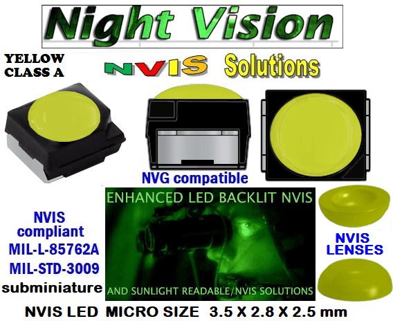 surface mount nvis led FP-1309SMD-WA2-G201-H smd led: nvis smd led  optical products led  subminiature nvis led 3.5 x 2.8 x 2.5 mm size nano nvis led size nvis led lighting nvis upgrades nano subminiature led nvis LEDs Used in Night Vision Imaging Systems (NVIS ...NVG/NVIS for LED Light Sources - avionics Aerospace Nvis optics Lighting optics, nvis filtering nvis optical mini nano led Nano LED Lights‎ LED Mini smd tlcc (Visible & NVIS) | Military & defense  LED Mini smd tlcc  (Visible Lighting optics, nvis filtering nvis optical mini nano led Nano LED Lights‎ LED Mini smd tlcc (Visible & NVIS) | Military & defense LED Mini smd tlcc  (Visible & NVIS) NVIS Filter/SMD LED Assemblies NVIS Compliant SMD Type LEDs - Aerospace  NVIS Compliant Filtered SMD/PLCC Type LEDs  330-001 LED NVIS YELLOW CLASS A FILTER CAP       330-001 LED NVIS YELLOW CLASS A PCB   330-001 SMD-PLCC LED NVIS YELLOW CLASS A FILTER CAP      330-001 SMD-PLCC LED NVIS YELLOW CLASS A PCB  NESSW064AT NICHIA SMD-PLCC LED NVIS YELLOW CLASS     NSSW204BT NICHIA SMD-PLCC LED NVIS YELLOW CLASS   L-65196-A0603-003 L-65330-A0603-003 L-65197-B0603-003  L-65250-B0603-003 L-65648-W0603-003 L-65951-W0603-003 L-65401-Y0603-003 L-65402-Y0603-003   L-65403-R0603-003  L-65196-A0805-003 L-65330-A0805-003 L-65197-B0805-003 L-65250-B0805-003 L-65648-W0805-003 L-65951-W0805-003 320 NICHIA SMD-PLCC LED NVIS YELLOW CLASS    320-001 LED NVIS YELLOW CLASS A FILTER CAP 320-001 LED NVIS YELLOW CLASS A PCB  320-001 SMD-PLCC LED NVIS YELLOW CLASS A FILTER CAP 320-001 SMD-PLCC LED NVIS YELLOW CLASS A PCB  460 SMD-PLCC LED NVIS YELLOW CLASS A L-65401-Y0805-003 L-65402-Y0805-003 L-65403-R0805-003L-65196-A1206-002 L-65330-A1206-002 L-65197-B1206-002L-65250-B1206-002L-65648-W1206-002 L-65951-W1206-002L-65401-Y1206-002 L-65402-Y1206-002  L-65403-R1206-002 L-65196-A1206-003 L-65330-A1206-003 L-65197-B1206-003 L-65250-B1206-003 L-65648-W1206-003L-65951-W1206-003L-65401-Y1206-003L-65402-Y1206-003L-65403-R1206-003L-65196-A320-001L-65330-A320-001 955 LED NVIS 955 LED HELICOPTERS NIGHT VISION LIGHTING   955 NVIS FILTER L-65197-B320-001 L-65250-B320-001 L-65648-W320-001 L-65951-W320-001 L-65401-Y320-001 L-65402-Y320-001 L-65403-R320-001 L-65196-A670-001 L-65330-A670-001 L-65197-B670-001 L-65250-B670-001 L-65648-W670-001 L-65951-W670-001 L-65401-Y670-001 L-65401-Y670-001 L-65403-R670-001 L-65196-A460-001 L-65196-A460-001 L-65197-B460-001  L-65250-B460-001 L-65648-W460-001 L-65951-W460-001 L-65401-Y460-001 955 Night Vision Imaging Systems (NVIS)  955 NVIS Aircraft Upgrades | Night Vision Goggles 955 PILOT NIGHT VISION NVIS ILLUMINATION  955 LED SWITCHES, KEYBOARDS, DIALS, AND DISPLAYS 955 COCKPIT MODIFICATION 955 NVIS compatible lights  955 NVIS filters . NVG lighting 955 NVG lighting control panel customized 955 SMD LED 955 NVIS compatible lights  955 NVIS compatible lights CHIP  955 SMD LED NVIS   955 SMD LED NIGHT VISION  955 SMD PLCC LED AVIONICS 955 AVIONICS NIGHT VISION LIGHTING 955 AVIONICS MODIFICATIONS TO NIGHT VISION    955 LED AVIONICS UPGRADES TO NVIS 955 LED NVIS GREEN A 955 IMPACT SOLAR FILTER NVIS 955 LED NVIS GREEN B  955 LED NVIS WHITE  955 LED NVIS RED  955 LED AIRBUS A 400 GREEN  955-001 SMD PLCC LED 955-001 LED   955-001 LED NVIS  955-001 LED HELICOPTERS NIGHT VISION LIGHTING 955-001 NVIS FILTER 955-001 Night Vision Imaging Systems (NVIS) 955-001 PILOT NIGHT VISION NVIS ILLUMINATION  955-001 NVIS Aircraft Upgrades | Night Vision Goggles  955-001 LED SWITCHES, KEYBOARDS, DIALS, AND DISPLAYS 955-001 COCKPIT MODIFICATION  955-001 NVIS compatible lights    955-001 NVIS filters . NVG lighting  955-001 NVG lighting control panel customized   955-001 SMD LED  955-001 NVIS compatible lights  955-001 NVIS compatible lights CHIP 955-001 SMD LED NVIS 955-001 SMD LED NIGHT VISION  955-001 SMD PLCC LED AVIONICS 955-001 AVIONICS NIGHT VISION LIGHTING 955-001 AVIONICS MODIFICATIONS TO NIGHT VISION 955-001 LED AVIONICS UPGRADES TO NVIS   955-001 LED NVIS GREEN A 955-001 IMPACT SOLAR FILTER NVIS 955-001 LED NVIS GREEN B 955-001 LED NVIS WHITE 955-001 LED NVIS RED 955-001 LED AIRBUS A 400 GREEN  670 NVG lighting control panel customized  670 NVIS filters . NVG lighting  670 NVIS compatible lights  670 COCKPIT MODIFICATION 670 LED SWITCHES, KEYBOARDS, DIALS, AND DISPLAYS  670 NVIS Aircraft Upgrades | Night Vision Goggles  670 PILOT NIGHT VISION NVIS ILLUMINATION  670 Night Vision Imaging Systems (NVIS  670 NVIS FILTER 670 LED HELICOPTERS NIGHT VISION LIGHTING  670 LED NVIS 670 LED 670 SMD PLCC LED