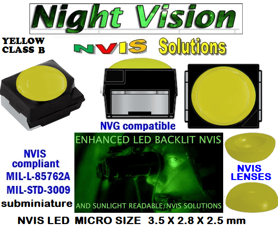 surface mount nvis led FP-1309SMD-WA2-G201-H smd led: nvis smd led  optical products led  subminiature nvis led 3.5 x 2.8 x 2.5 mm size nano nvis led size nvis led lighting nvis upgrades nano subminiature led nvis LEDs Used in Night Vision Imaging Systems (NVIS ...NVG/NVIS for LED Light Sources - avionics Aerospace Nvis optics Lighting optics, nvis filtering nvis optical mini nano led Nano LED Lights‎ LED Mini smd tlcc (Visible & NVIS) | Military & defense  LED Mini smd tlcc  (Visible Lighting optics, nvis filtering nvis optical mini nano led Nano LED Lights‎ LED Mini smd tlcc (Visible & NVIS) | Military & defense LED Mini smd tlcc  (Visible & NVIS) NVIS Filter/SMD LED Assemblies NVIS Compliant SMD Type LEDs - Aerospace  NVIS Compliant Filtered SMD/PLCC Type LEDs   330-001 LED NVIS YELLOW CLASS B FILTER CAP       330-001 LED NVIS YELLOW CLASS B PCB   330-001 SMD-PLCC LED NVIS YELLOW CLASS B FILTER CAP       330-001 SMD-PLCC LED NVIS YELLOW CLASS B PCB   NESSW064AT NICHIA SMD-PLCC LED NVIS YELLOW CLASS B    NSSW204BT NICHIA SMD-PLCC LED NVIS YELLOW CLASS B   L-65196-A0603-003 L-65330-A0603-003 L-65197-B0603-003  L-65250-B0603-003 L-65648-W0603-003 L-65951-W0603-003 L-65401-Y0603-003 L-65402-Y0603-003   L-65403-R0603-003  L-65196-A0805-003 L-65330-A0805-003 L-65197-B0805-003 L-65250-B0805-003 L-65648-W0805-003 L-65951-W0805-003 320 NICHIA SMD-PLCC LED NVIS YELLOW CLASS B   320-001 LED NVIS YELLOW CLASS B FILTER CAP 320-001 LED NVIS YELLOW CLASS B PCB   320-001 SMD-PLCC LED NVIS YELLOW CLASS B FILTER CAP  320-001 SMD-PLCC LED NVIS YELLOW CLASS B PCB   460 SMD-PLCC LED NVIS YELLOW CLASS B   L-65401-Y0805-003 L-65402-Y0805-003 L-65403-R0805-003L-65196-A1206-002 L-65330-A1206-002 L-65197-B1206-002L-65250-B1206-002L-65648-W1206-002 L-65951-W1206-002L-65401-Y1206-002L-65402-Y1206-002  L-65403-R1206-002 L-65196-A1206-003 L-65330-A1206-003 L-65197-B1206-003 L-65250-B1206-003 L-65648-W1206-003L-65951-W1206-003L-65401-Y1206-003L-65402-Y1206-003 L-65403-R1206-003L-65196-A320-001L-65330-A320-001 955 LED NVIS 955 LED HELICOPTERS NIGHT VISION LIGHTING   955 NVIS FILTER  L-65197-B320-001 L-65250-B320-001 L-65648-W320-001 L-65951-W320-001 L-65401-Y320-001 L-65402-Y320-001 L-65403-R320-001 L-65196-A670-001 L-65330-A670-001 L-65197-B670-001 L-65250-B670-001 L-65648-W670-001 L-65951-W670-001 L-65401-Y670-001 L-65401-Y670-001 L-65403-R670-001 L-65196-A460-001 L-65196-A460-001 L-65197-B460-001  L-65250-B460-001 L-65648-W460-001 L-65951-W460-001 L-65401-Y460-001 955 Night Vision Imaging Systems (NVIS)  955 NVIS Aircraft Upgrades | Night Vision Goggles 955 PILOT NIGHT VISION NVIS ILLUMINATION  955 LED SWITCHES, KEYBOARDS, DIALS, AND DISPLAYS 955 COCKPIT MODIFICATION 955 NVIS compatible lights  955 NVIS filters . NVG lighting 955 NVG lighting control panel customized 955 SMD LED  955 NVIS compatible lights  955 NVIS compatible lights CHIP  955 SMD LED NVIS   955 SMD LED NIGHT VISION  955 SMD PLCC LED AVIONICS 955 AVIONICS NIGHT VISION LIGHTING 955 AVIONICS MODIFICATIONS TO NIGHT VISION   955 LED AVIONICS UPGRADES TO NVIS 955 LED NVIS GREEN A 955 IMPACT SOLAR FILTER NVIS 955 LED NVIS GREEN B  955 LED NVIS WHITE  955 LED NVIS RED  955 LED AIRBUS A 400 GREEN  955-001 SMD PLCC LED 955-001 LED   955-001 LED NVIS  955-001 LED HELICOPTERS NIGHT VISION LIGHTING  955-001 NVIS FILTER 955-001 Night Vision Imaging Systems (NVIS) 955-001 PILOT NIGHT VISION NVIS ILLUMINATION  955-001 NVIS Aircraft Upgrades | Night Vision Goggles  955-001 LED SWITCHES, KEYBOARDS, DIALS, AND DISPLAYS 955-001 COCKPIT MODIFICATION  955-001 NVIS compatible lights    955-001 NVIS filters . NVG lighting  955-001 NVG lighting control panel customized   955-001 SMD LED 955-001 NVIS compatible lights  955-001 NVIS compatible lights CHIP 955-001 SMD LED NVIS 955-001 SMD LED NIGHT VISION 955-001 SMD PLCC LED AVIONICS 955-001 AVIONICS NIGHT VISION LIGHTING 955-001 AVIONICS MODIFICATIONS TO NIGHT VISION 955-001 LED AVIONICS UPGRADES TO NVIS 955-001 LED NVIS GREEN A 955-001 IMPACT SOLAR FILTER NVIS 955-001 LED NVIS GREEN B 955-001 LED NVIS WHITE 955-001 LED NVIS RED 955-001 LED AIRBUS A 400 GREEN 670 NVG lighting control panel customized  670 NVIS filters . NVG lighting  670 NVIS compatible lights  670 COCKPIT MODIFICATION 670 LED SWITCHES, KEYBOARDS, DIALS, AND DISPLAYS 670 NVIS Aircraft Upgrades | Night Vision Goggles  670 PILOT NIGHT VISION NVIS ILLUMINATION  670 Night Vision Imaging Systems (NVIS  670 NVIS FILTER 670 LED HELICOPTERS NIGHT VISION LIGHTING  670 LED NVIS 670 LED 670 SMD PLCC LED