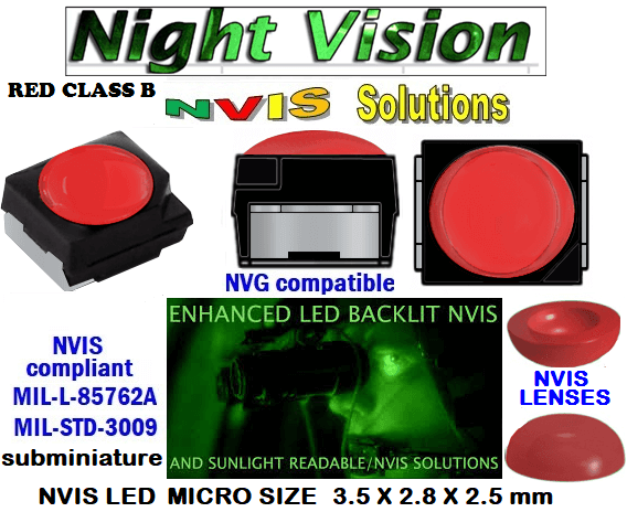 surface mount nvis led FP-1309SMD-WA2-G201-H smd led: nvis smd led  optical products led  subminiature nvis led 3.5 x 2.8 x 2.5 mm size nano nvis led size nvis led lighting nvis upgrades nano subminiature led nvis LEDs Used in Night Vision Imaging Systems (NVIS ...NVG/NVIS for LED Light Sources - avionics Aerospace Nvis optics Lighting optics, nvis filtering nvis optical mini nano led Nano LED Lights‎ LED Mini smd tlcc (Visible & NVIS) | Military & defense  LED Mini smd tlcc  (Visible Lighting optics, nvis filtering nvis optical mini nano led Nano LED Lights‎ LED Mini smd tlcc (Visible & NVIS) | Military & defense LED Mini smd tlcc  (Visible & NVIS) NVIS Filter/SMD LED Assemblies NVIS Compliant SMD Type LEDs - Aerospace  NVIS Compliant Filtered SMD/PLCC Type LEDs   330-001 SMD LED NVIS RED CLASS B FILTER CAP       330-001 SMD LED NVIS RED CLASS B PCB   330-001 SMD-PLCC LED NVIS RED CLASS B FILTER CAP        330-001 SMD-PLCC LED NVIS RED CLASS B PCB  NESSW064AT NICHIA SMD-PLCC LED NVIS RED CLASS B FILTER CAP        NSSW204BT NICHIA SMD-PLCC LED NVIS RED CLASS B FILTER CAP       L-65196-A0603-003 L-65330-A0603-003 L-65197-B0603-003  L-65250-B0603-003 L-65648-W0603-003 L-65951-W0603-003 L-65401-Y0603-003 L-65402-Y0603-003   L-65403-R0603-003  L-65196-A0805-003 L-65330-A0805-003 L-65197-B0805-003 L-65250-B0805-003 L-65648-W0805-003 L-65951-W0805-003 320 NICHIA SMD-PLCC LED NVIS RED CLASS B FILTER CAP  320-001 SMD LED NVIS RED CLASS B FILTER CAP 320-001 SMD LED NVIS RED CLASS B PCB  320-001 SMD-PLCC LED NVIS RED CLASS B FILTER CAP  320-001 SMD-PLCC LED NVIS RED CLASS B PCB 460 SMD-PLCC LED NVIS RED CLASS B FILTER CAP  L-65401-Y0805-003 L-65402-Y0805-003 L-65403-R0805-003L-65196-A1206-002 L-65330-A1206-002 L-65197-B1206-002L-65250-B1206-002L-65648-W1206-002 L-65951-W1206-002L-65401-Y1206-002L-65402-Y1206-002  L-65403-R1206-002 L-65196-A1206-003 L-65330-A1206-003 L-65197-B1206-003 L-65250-B1206-003 L-65648-W1206-003L-65951-W1206-003L-65401-Y1206-003L-65402-Y1206-003L-65403-R1206-003L-65196-A320-001L-65330-A320-001 955 LED NVIS 955 LED HELICOPTERS NIGHT VISION LIGHTING   955 NVIS FILTER  L-65197-B320-001 L-65250-B320-001 L-65648-W320-001 L-65951-W320-001 L-65401-Y320-001 L-65402-Y320-001 L-65403-R320-001 L-65196-A670-001 L-65330-A670-001 L-65197-B670-001 L-65250-B670-001 L-65648-W670-001 L-65951-W670-001 L-65401-Y670-001 L-65401-Y670-001 L-65403-R670-001 L-65196-A460-001 L-65196-A460-001 L-65197-B460-001  L-65250-B460-001 L-65648-W460-001 L-65951-W460-001 L-65401-Y460-001 955 Night Vision Imaging Systems (NVIS)  955 NVIS Aircraft Upgrades | Night Vision Goggles 955 PILOT NIGHT VISION NVIS ILLUMINATION  955 LED SWITCHES, KEYBOARDS, DIALS, AND DISPLAYS 955 COCKPIT MODIFICATION 955 NVIS compatible lights  955 NVIS filters . NVG lighting 955 NVG lighting control panel customized 955 SMD LED  955 NVIS compatible lights  955 NVIS compatible lights CHIP  955 SMD LED NVIS   955 SMD LED NIGHT VISION  955 SMD PLCC LED AVIONICS 955 AVIONICS NIGHT VISION LIGHTING 955 AVIONICS MODIFICATIONS TO NIGHT VISION  955 LED AVIONICS UPGRADES TO NVIS 955 LED NVIS GREEN A 955 IMPACT SOLAR FILTER NVIS 955 LED NVIS GREEN B  955 LED NVIS WHITE  955 LED NVIS RED  955 LED AIRBUS A 400 GREEN  955-001 SMD PLCC LED 955-001 LED   955-001 LED NVIS  955-001 LED HELICOPTERS NIGHT VISION LIGHTING   955-001 NVIS FILTER 955-001 Night Vision Imaging Systems (NVIS) 955-001 PILOT NIGHT VISION NVIS ILLUMINATION  955-001 NVIS Aircraft Upgrades | Night Vision Goggles  955-001 LED SWITCHES, KEYBOARDS, DIALS, AND DISPLAYS 955-001 COCKPIT MODIFICATION  955-001 NVIS compatible lights    955-001 NVIS filters . NVG lighting  955-001 NVG lighting control panel customized   955-001 SMD LED  955-001 NVIS compatible lights  955-001 NVIS compatible lights CHIP 955-001 SMD LED NVIS 955-001 SMD LED NIGHT VISION 955-001 SMD PLCC LED AVIONICS 955-001 AVIONICS NIGHT VISION LIGHTING 955-001 AVIONICS MODIFICATIONS TO NIGHT VISION 955-001 LED AVIONICS UPGRADES TO NVIS    955-001 LED NVIS GREEN A 955-001 IMPACT SOLAR FILTER NVIS 955-001 LED NVIS GREEN B 955-001 LED NVIS WHITE 955-001 LED NVIS RED 955-001 LED AIRBUS A 400 GREEN  670 NVG lighting control panel customized  670 NVIS filters . NVG lighting 670 NVIS compatible lights  670 COCKPIT MODIFICATION 670 LED SWITCHES, KEYBOARDS, DIALS, AND DISPLAYS   670 NVIS Aircraft Upgrades | Night Vision Goggles  670 PILOT NIGHT VISION NVIS ILLUMINATION  670 Night Vision Imaging Systems (NVIS  670 NVIS FILTER 670 LED HELICOPTERS NIGHT VISION LIGHTING  670 LED NVIS 670 LED 670 SMD PLCC LED