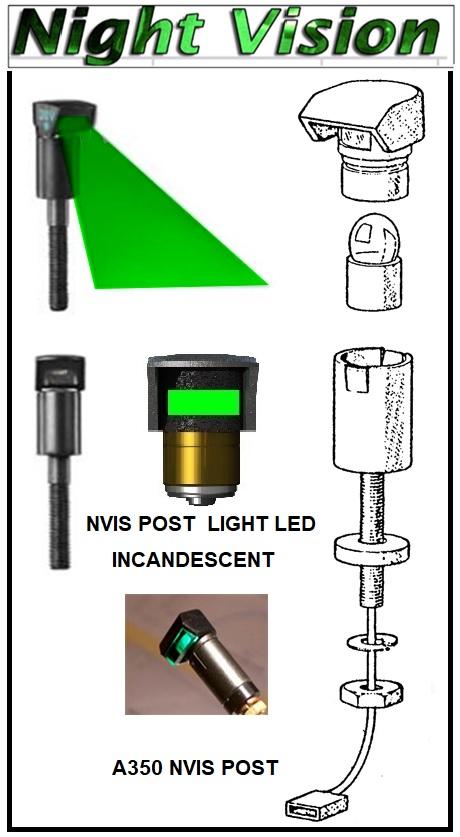 nvis post light led