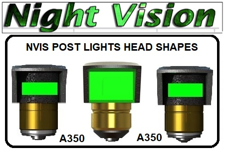 nvis post lights head shapes