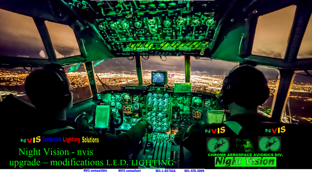 NVIS LIGHTING COMPONENTS FOR SMALL AIRCRAFT LED, Incandescent Instrument panels Lighting nvis