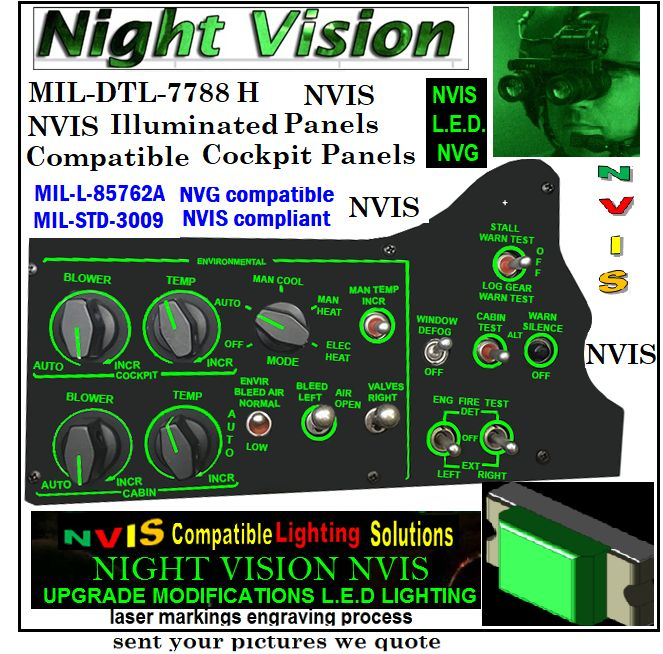 Aircraft Edge Lit Panels nvis  nvis helicopters panel mil-dtl-7788 panels nvis dge lit led panels night vision dge lit led panels night vision led panels light nvis flush mount led panels light nvis custom size led light panels nvg MIL-DTL-7788 H PANELS INFORMATION INTEGRALLY NIGHT VISION NVIS Edge Lit Panels for Night Vision Illuminated Panels & Light Plates nvg MIL-DTL-7788 H PANELS INFORMATION INTEGRALLY  MIL-SPECS-MIL-DTL NIGHT VISION MIL-DTL-7788H, DETAILSPECIFICATION: PANELS,iNFORMATION, INTEGRALLYILLUMINATED NVIS MIL-DTL-7788 G PANELS INFORMATION INTEGRALLY NIGHT VISION night vision goggles for general aviation smd integrations nvis modification LEDs long life cold lighting panels nvg filter panel upgrades avionics cockpit nvg integrally illuminated panel nvis nvis keyboard panels fabrication Integrated Control Panels, Integrated and night vision nvis panel integration cockpit nvis upgrades Illuminated Information Panels | NIGHT VISION lluminated Panels - International nvis LEDs source nvis keyboard panels operational night vision keyboard panels helicopters night vision dashboard panels helicopters night operations nvis panels helicopters night operations nvis cockpit helicopters edge lit panels avionics night vision panels LED Technology nvg avionics edge lit panels Nvis lighting modifications Custom Size & Shape Led Panels - LED Backlit Panels night vision Refurbishing old Panels to night vision avionics  Custom LED Panels Light For nvg upgrades nvis avionics NVIS Edge Lit Panels for Night vision       Avionics nvis panels helicopters nvis lighting panels components upgrades  aircraft illuminated panels RETROFITING NVIS AIRCRAFT PANELS LIGHTING  PLCC-SMD NIGHT VISION Aircraft Edge Lit Panels night vision ANNUNCIATOR PANEL LIGHTING NVIS UPGRADES CESSNA PANEL LOW VOLTAGE NVIS PANELS INTERNATIONAL AVIONICS 82 NVIS REFURBISHED COCKPIT PANELS ANNUNCIATOR PANEL LIGHTING NVIS UPGRADES CESSNA PANEL LOW VOLTAGE NVIS PANELS INTERNATION Avionics Panel lighting pilots